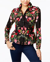 INC International Concepts Floral-Print Peplum Jacket, Only at Macy's