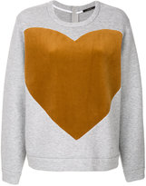 Odeeh heart print sweatshirt