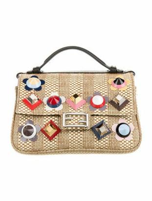 Fendi Double Micro Baguette Crossbody Bag w/ Tags