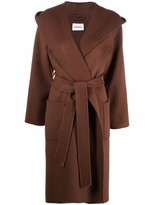 Thumbnail for your product : P.A.R.O.S.H. Mid-Length Belted Wool Coat