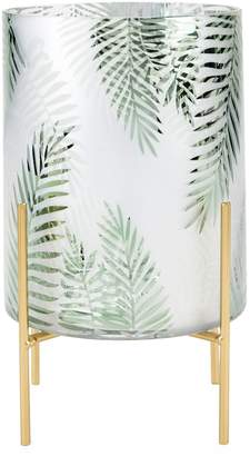 Torre And Tagus Designs Palm Print Frosted Mirror Decorative Stand