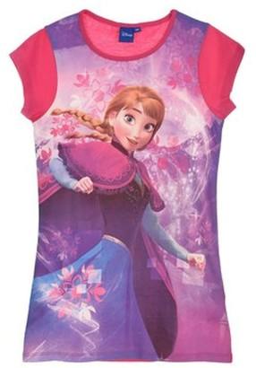 Disney Frozen Princess Elsa Anna Girls Nightwear Sleepwear Large Tshirt 7-8 Years