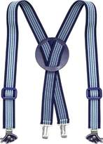 Playshoes Unisex Kids Fully Adjustable Elasticated Striped Suspenders with Shark Clips Braces