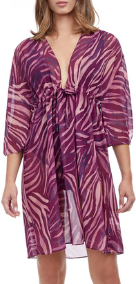 Gottex Panthea Printed Beach Coverup Dress