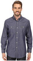 U.S. Polo Assn. Long Sleeve Classic Fit Poplin with Neps Button Down Sport Shirt