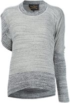 Vivienne Westwood asymmetric sleeves knitted blouse