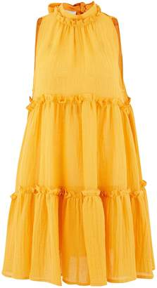 Lisa Marie Fernandez Erica linen mini dress