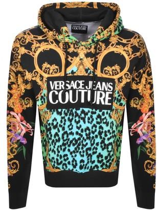 Versace Logo Pullover Hoodie Black