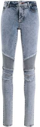 Philipp Plein High Waisted Biker Skinny Jeans