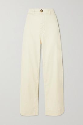 Vanessa Bruno Molly Linen-blend Wide-leg Pants - Ecru