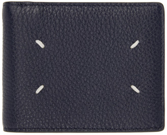 Maison Margiela Navy 4-Stitches Bifold Wallet