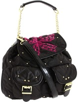 Betsey Johnson High Society Backpack (Black/Pink) - Bags and Luggage