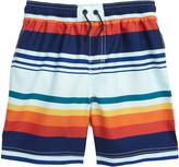 Tea Collection Stripe Swim Trunks