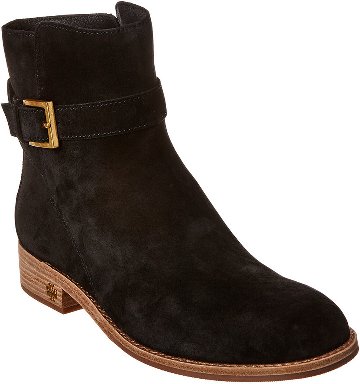 Tory Burch Black Suede Women's Boots
