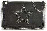 Stella McCartney black falabella star in studs purse