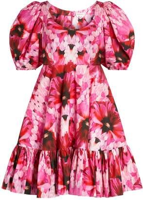 Alexander McQueen Floral Tiered Dress
