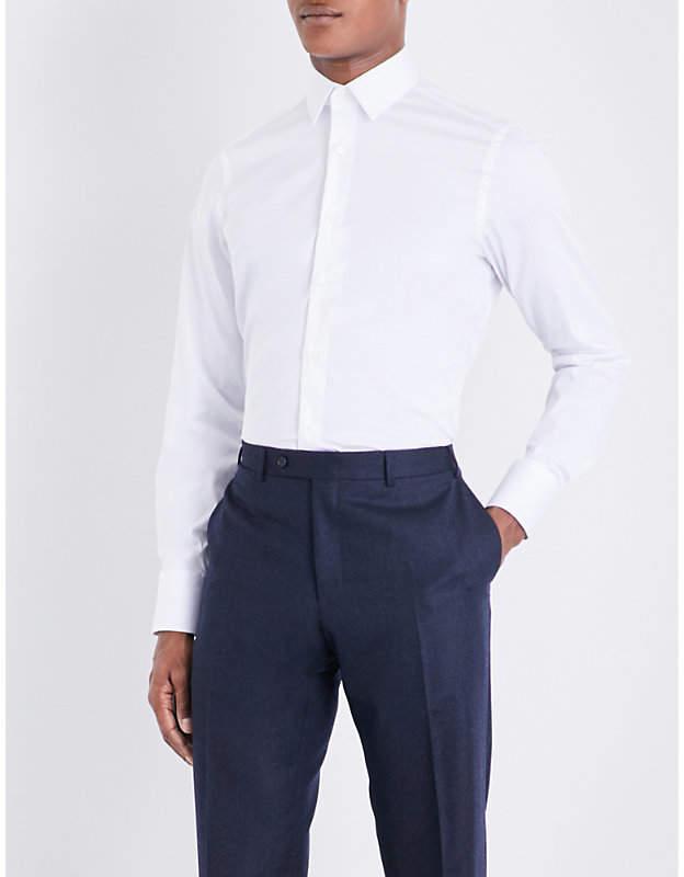 Canali Slim-fit stretch-cotton shirt