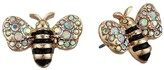 Betsey Johnson Bee Stud Earrings (Yellow) Earring