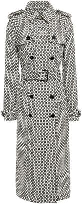 MICHAEL Michael Kors Logo-print Belted Crepe Trench Coat