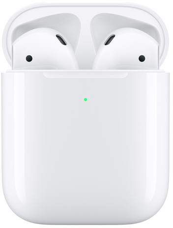 Apple AirPods (Latest, 2nd Gen) with Wireless Charging Case