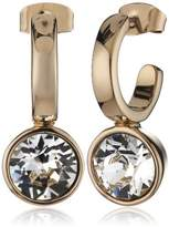 Dyrberg/Kern 335438 Women's Creole Earrings - Gold-Plated Metal with Crystal