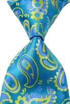 R-ABC Mr.ZHANG New Paisley Yellow JACQUARD WOVEN 100% Silk Men's Tie Necktie
