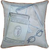 Trussardi Book Collection Decorative Cotton Pillow