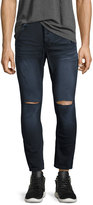 One Teaspoon Mr. Blues Whiskered Knee-Cut Jeans, Dark Blue
