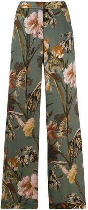 Off-White floral print flared trousers