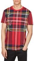 G Star Men's Royal Tartan Graphic T-Shirt