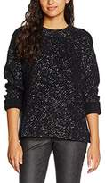 Tommy Hilfiger Women's THDW SWEATER L/S 22 Jumper, Multicoloured (Tommy Black/silver)