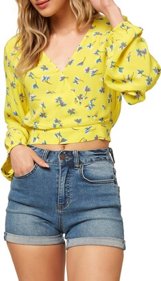 O'Neill Freely Wrap Front Crop Top