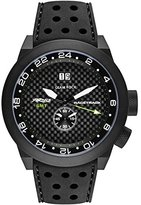 Glam Rock Men's Racetrack 48mm Black Silicone Band IP Steel Case Swiss Quartz Analog Watch GRT29014F-N