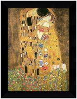 """Gustav """"The Kiss (Le Baiser / Il Baccio), 1907"""" Framed Canvas Art By Klimt"""