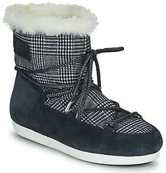 Moon Boot FAR SIDE LOW FUR TARTAN women's Snow boots in Blue