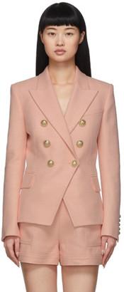 Balmain Pink 6-Button Blazer