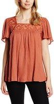 Gat Rimon Women's Short Sleeve Blouse - Pink -