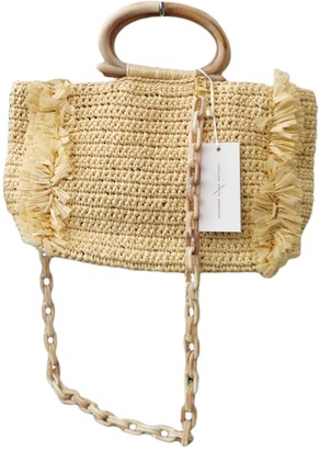 Carolina Santo Domingo Beige Wicker Handbags