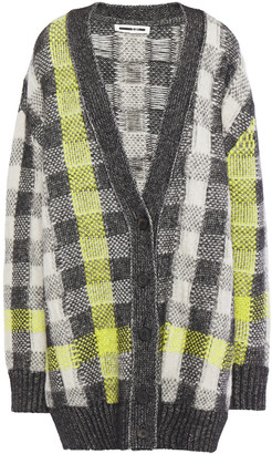 McQ Checked Jacquard-knit Cardigan