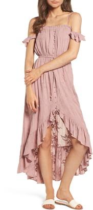 Lost + Wander Rose Cold Shoulder Dress
