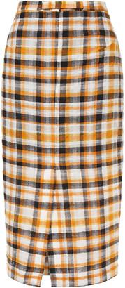 McQ Checked Cotton And Wool-blend Jacquard Midi Skirt