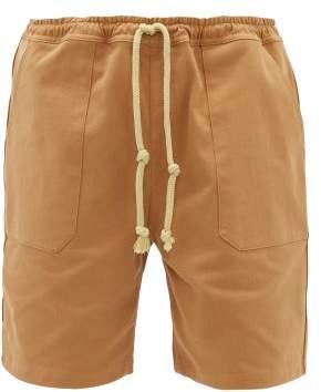 Nanushka Jem Cotton-blend Twill Shorts - Mens - Brown Multi