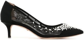 Badgley Mischka Onyx crystal-embellished pumps