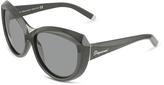 DSQUARED2 Signature Acetate Cat-Eye Sunglasses with Metal Bridge