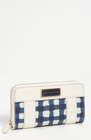 Marc by Marc Jacobs 'Check Print - Slim Zippy' Wallet