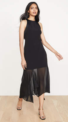 Halston Sleeveless Crepe Georgette Dress