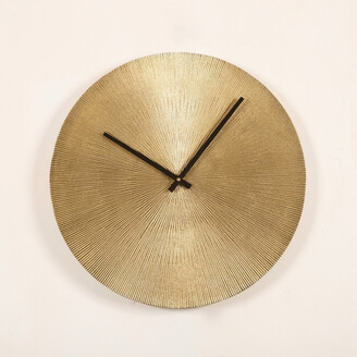 J & K Europe Imports Antique Brass Wall Clock Small