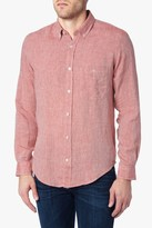 7 For All Mankind Long Sleeve Lightweight Oxford Shirt In Nova Red