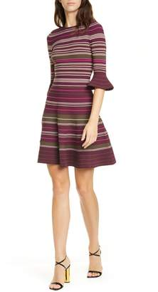 Ted Baker Tayiny Stripe Ottoman Dress