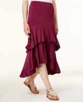 Kensie Tiered High-Low Maxi Skirt